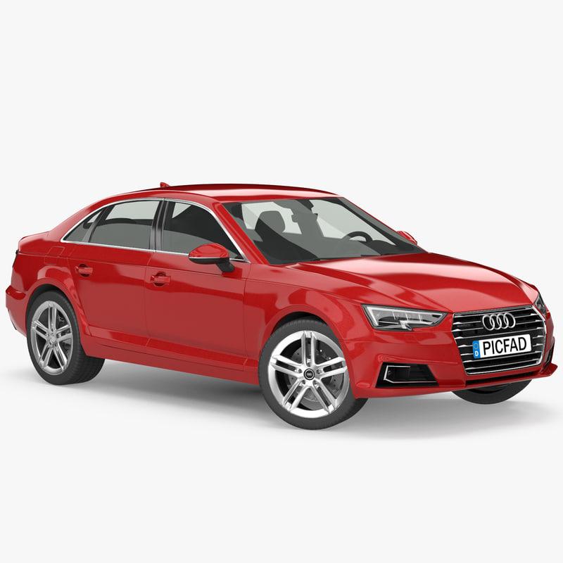 3d max 2016 audi a4 sedan