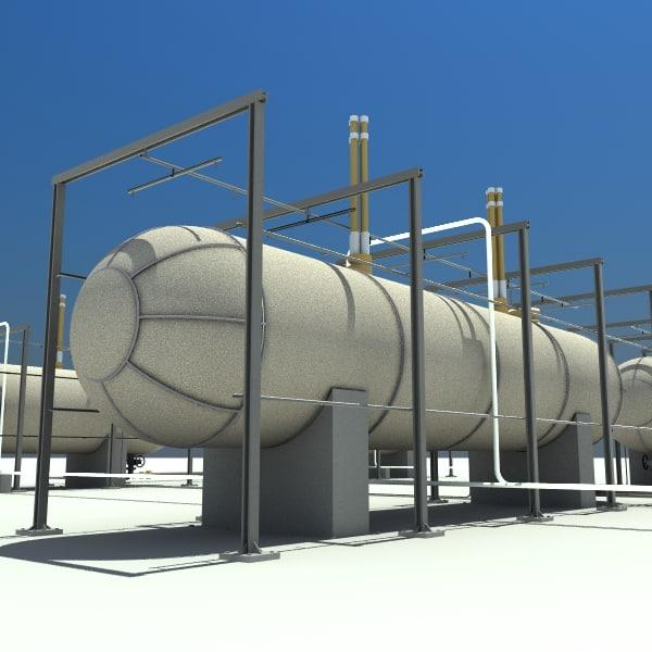 3d model oil tanks
