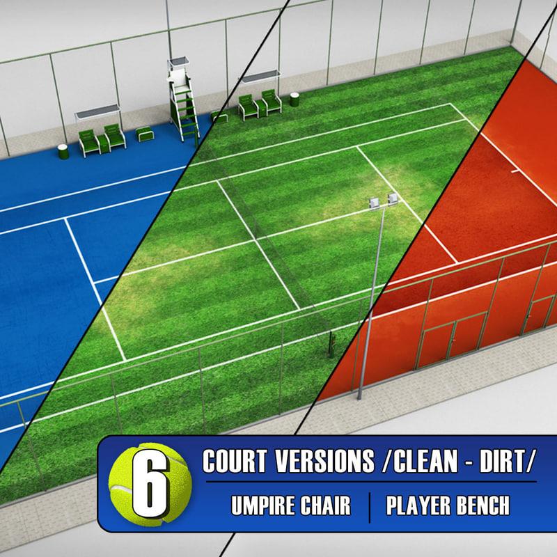tennis court stadium arena 3ds
