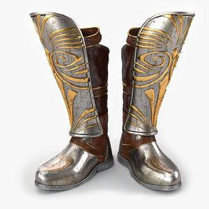 3d armor boots model