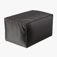 footstool scruffy 3d model