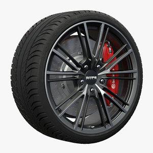 nitro attack wheel 3d x