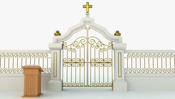 pearly gates heaven 3d model