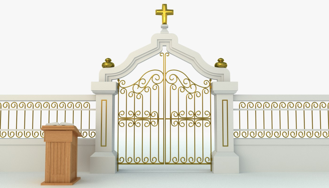 pearly gates heaven 3d model