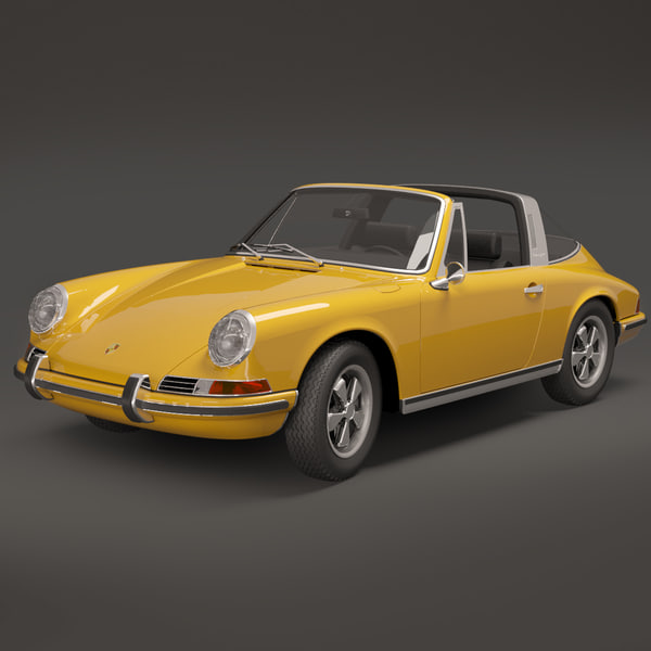 porsche 911 targa 1968 3d max
