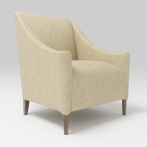 3d arm chair armchair