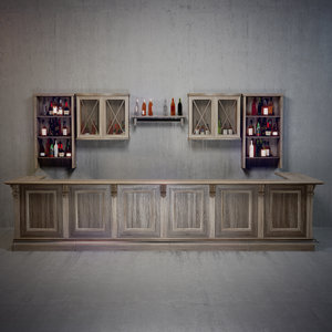 bar restaurants 3d model