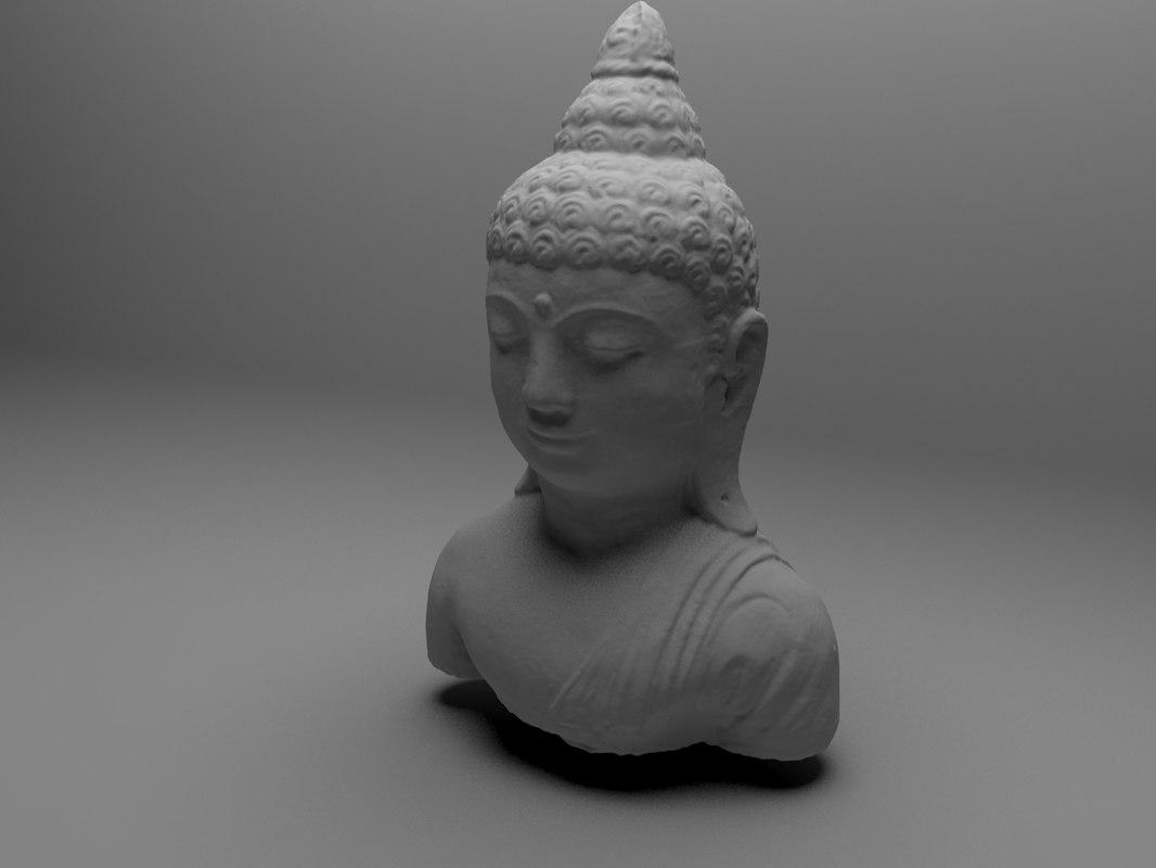 3d model bust buddha