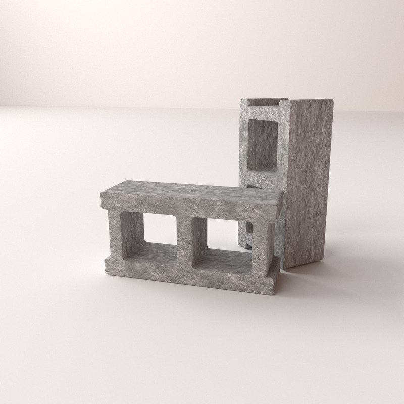 3d 3ds cinderblock cinder block