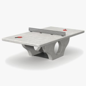 3d model concrete ping pong table