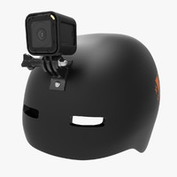 3d model gopro session helmet