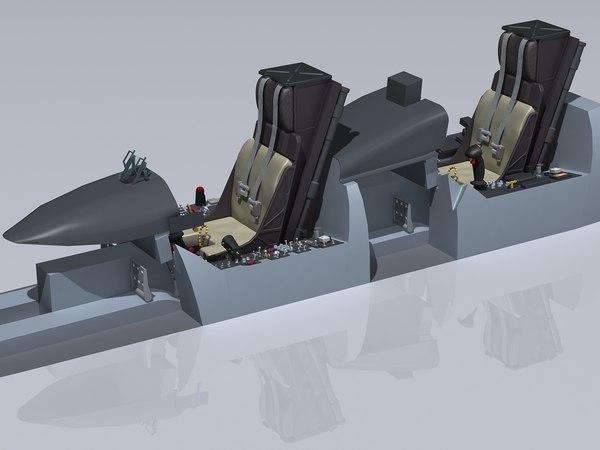 3d f a-18e cockpit model