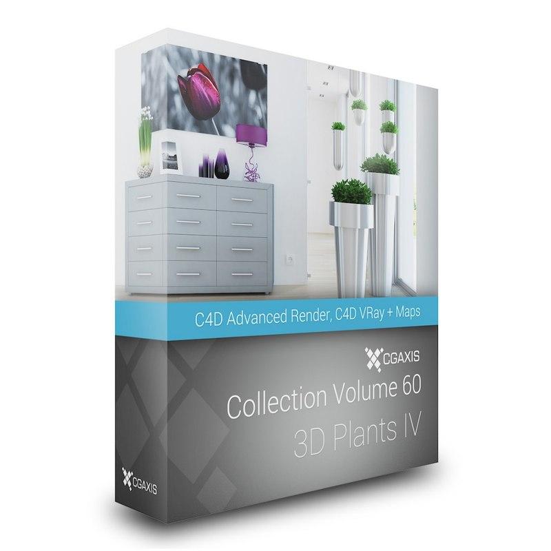 volume 60 plants iv 3d c4d