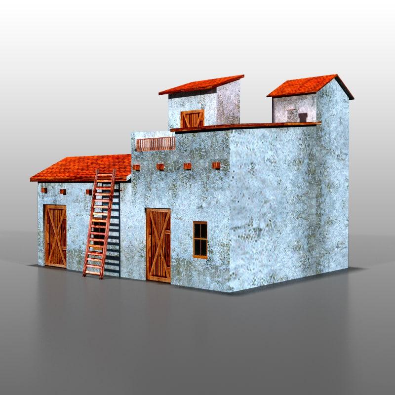 3d spanish house