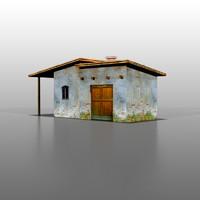 3d spanish house model