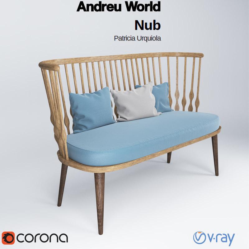 3ds max andreu world nub bench