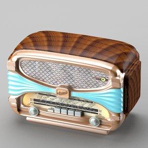 retro radio art deco 3d model