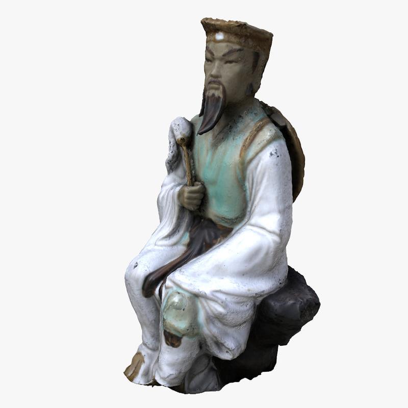 3d model japan statue scan