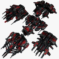 5 upgraded attack drones 3d max