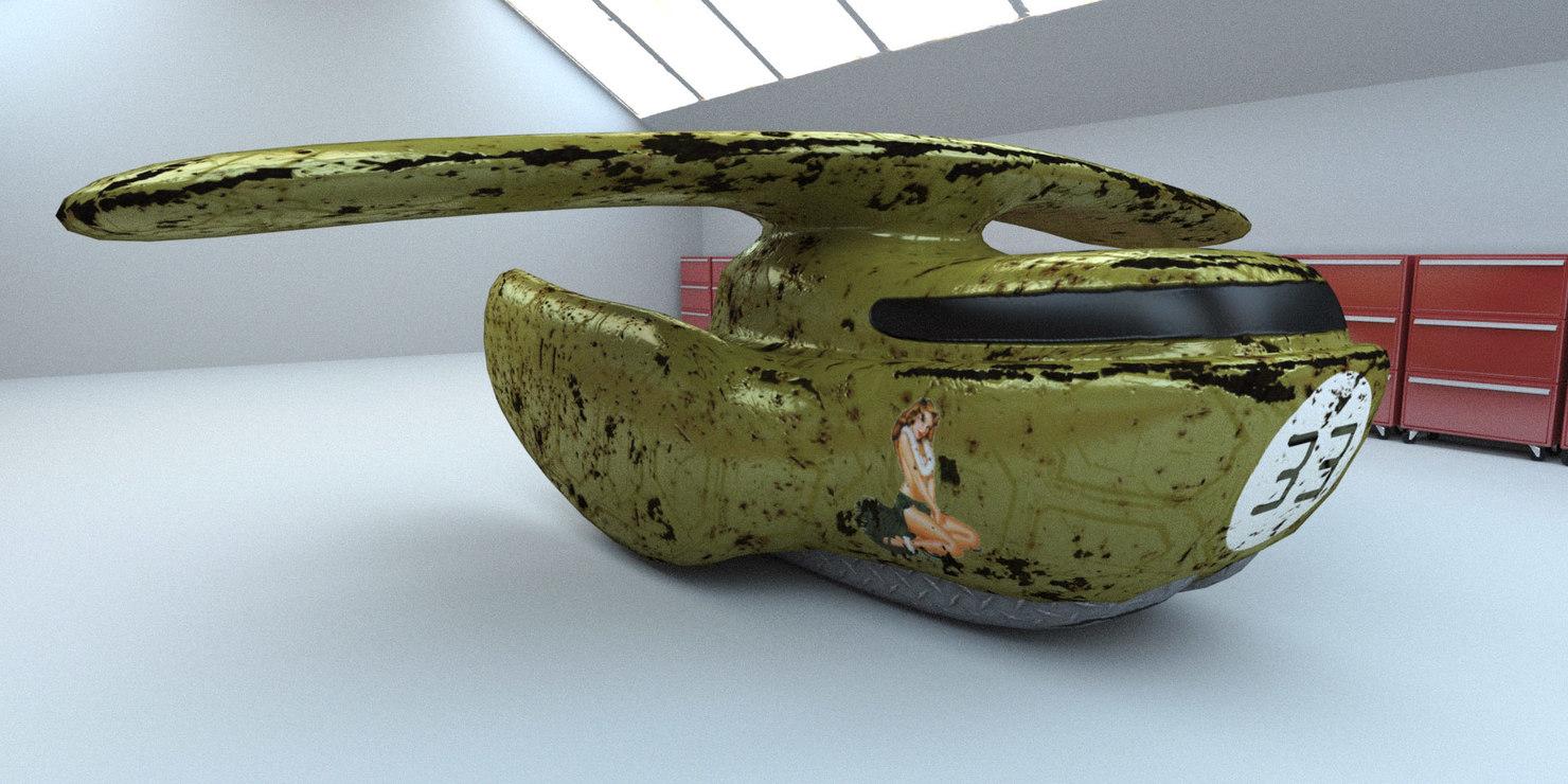 old spaceship 3d max