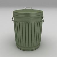 dustbin barrels 3d model