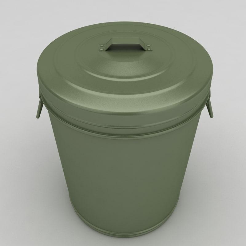 dustbin barrel 3d max