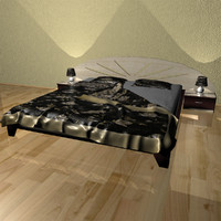 3d model bed bedroom