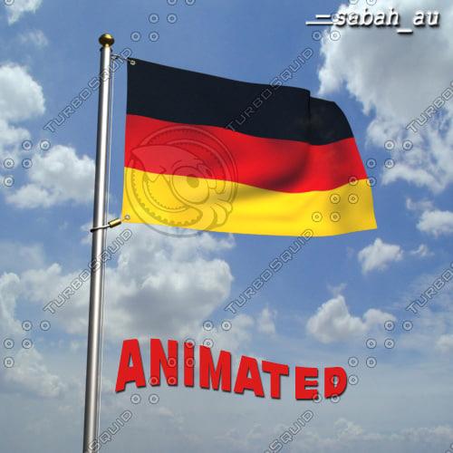 3d model german flag