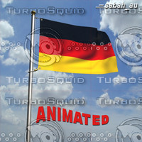 3d model german flag