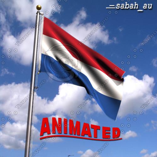 netherlands flag wind 3d max