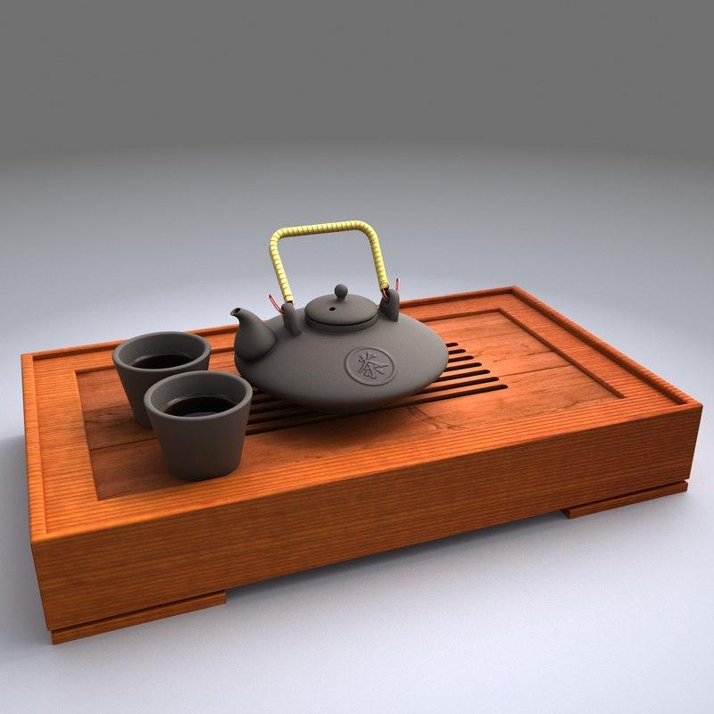 3d model teapot asian asia