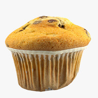 3d 3ds muffin food