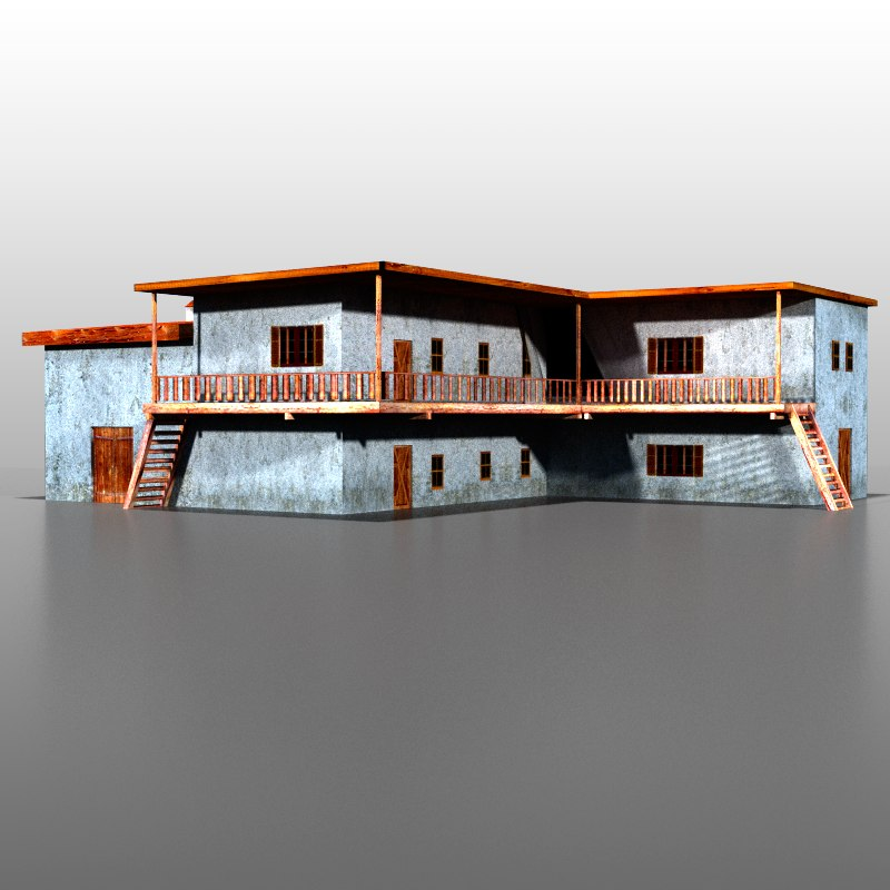 spanish house 3d max