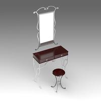 dressing table fbx