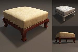 3d model footrest furniture