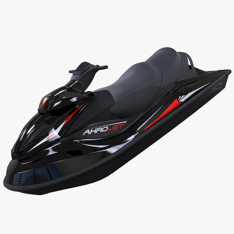 3d model of jet ski