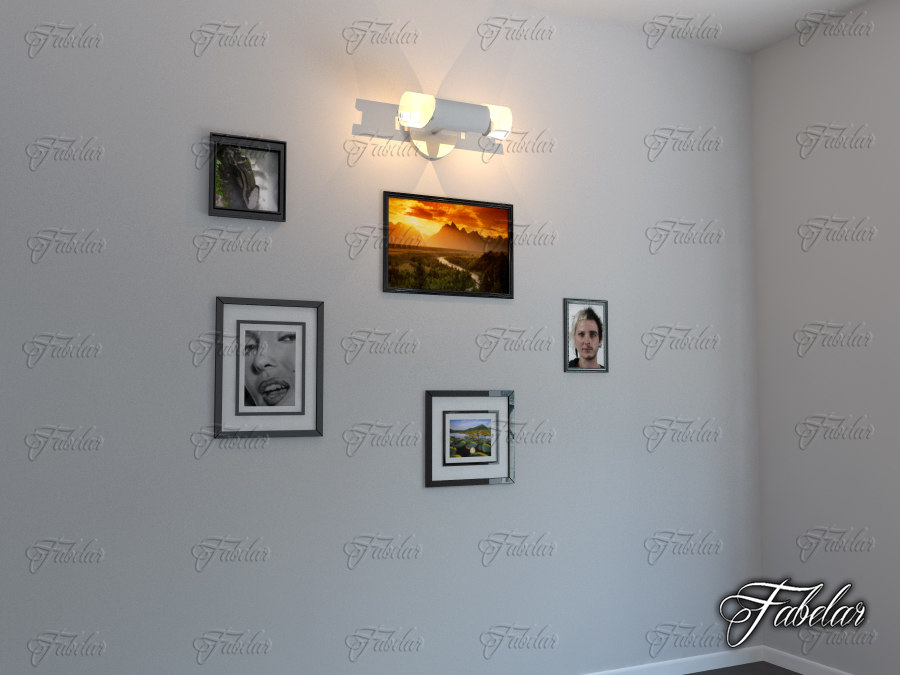 3d model hanging light