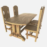 table chairs 3d ma
