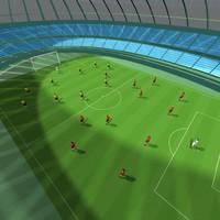 football stadium players obj
