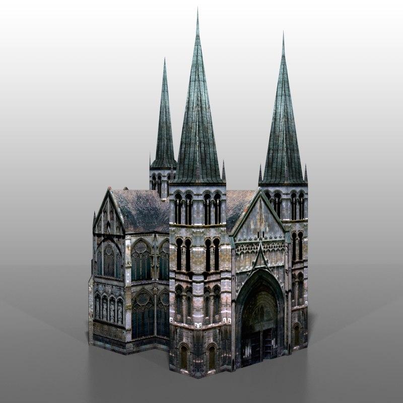 3ds max church