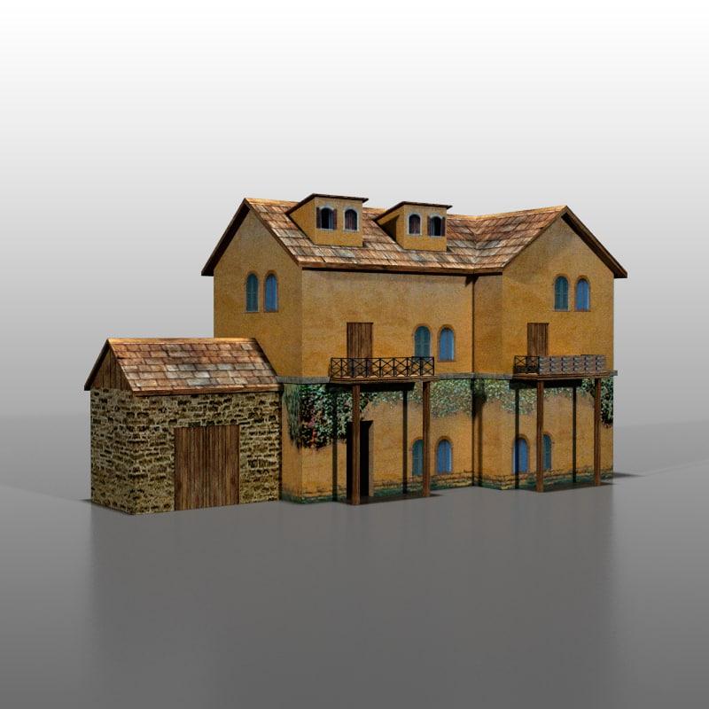 Best Free 3d Home Design Software 2015: 3d Model Italian House