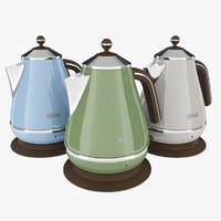 3d longhi icona vintage kettle model