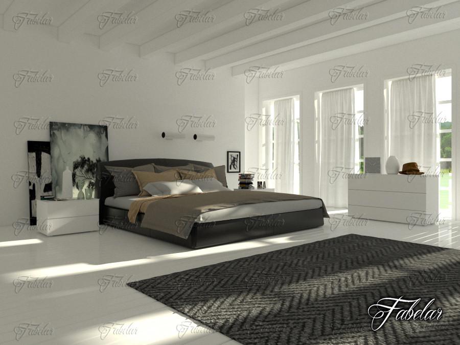 bedroom scene 3d max
