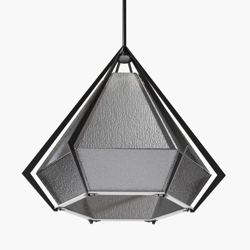harlow pendants - black 3d max