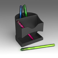 3d stationery set model