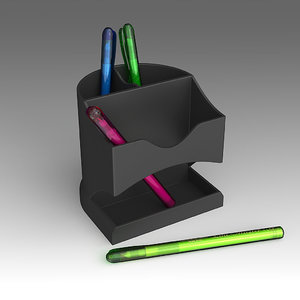 3d stationery set model