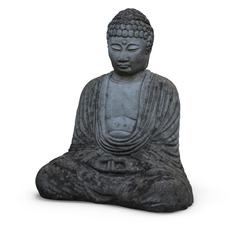 stone buddha statue 3d 3ds
