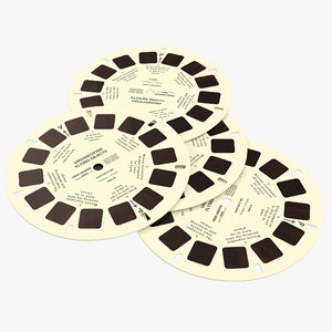 3d model stereoscope cardboard disks