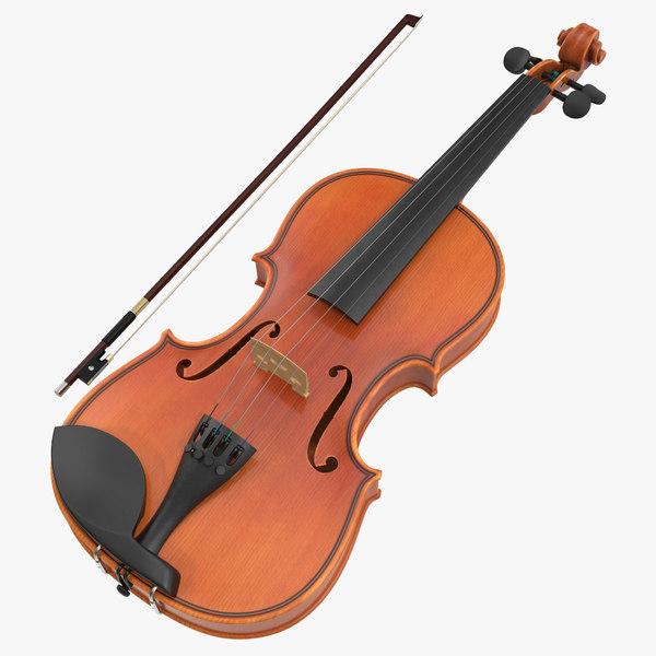 violin set 3d model