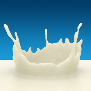 3d crown splash milk